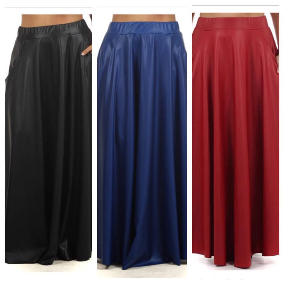 1e96a4d554 Home   Plus Fashions   Faux Maxi Skirt
