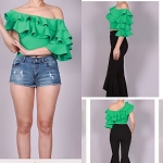 The Green Ruffle top