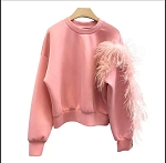 Pink Feather sweater