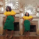 The Ruffle Skirt in Green