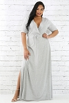 All about Gray Maxi Dress