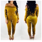 Gold Velvet Jumpsuit