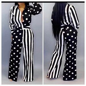 Stripes and Dots jumpsuit