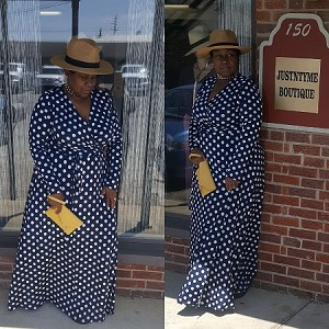 Dots in Navy Maxi Dress